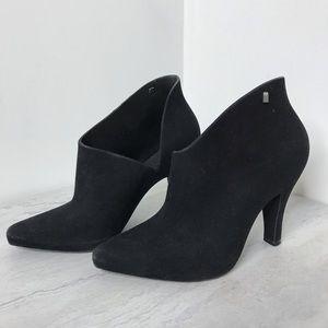Melissa Drama Flocked Ankle Boots 7